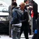 Amber Rose and Kanye West Shopping at Fendi, Missoni, and a perfumer in Rome, Italy - November 12, 2009