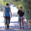 Hilary Duff with her boyfriend out in Los Angeles - 454 x 323