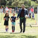 Ben Affleck spotted at his daughter  soccer game on Saturday April 1st, 2017 in Santa Monica, CA - 454 x 355