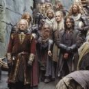 Bernard Hill as Theoden King, John Rhys-Davies as Gimli, Orlando Bloom as Legolas and Viggo Mortensen as Aragorn in New Line's The Lord of The Rings: The Two Towers - 2002 - 454 x 461