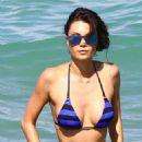 Julia Pereira in Blue Bikini at the beach in Miami - 454 x 681