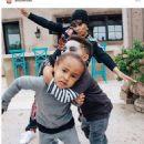Blac Chyna and King Cairo at Amber Rose and Wiz Khalifa's Son Sebastian's Birthday Party at Amber's Home in Tarzana, California - February 19, 2017 - 454 x 681