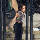 Jennifer Lopez in Tights – Workout in Los Angeles - 454 x 681
