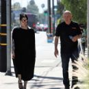 Kat Von D in Long Black Dress – Out and about in Los Angeles - 454 x 523