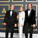 Joaquin Phoenix, Renée Zellweger and Brad Pitt At The 92nd Annual Academy Awards - Press Room