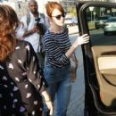 Actress Emma Stone is seen leaving the Meche Salon in West Hollywood, California on June 8, 2016 - 411 x 600