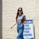 Dakota Johnson – Leaving Thibiant in Beverly Hills