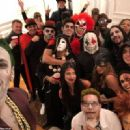 Neymar shows his spooky side by dressing up as The Joker at Halloween bash as forward celebrates hours after helping PSG win in Champions League