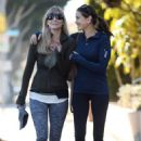 Teri Hatcher in Tights with a friend in Santa Monica - 454 x 681