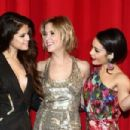 Selena Gomez, Ashley Benson and Vanessa Hudgens attend the 'Spring Breakers' Germany premiere at CineStar on February 19, 2013 in Berlin, Germany - 454 x 303