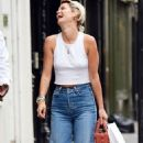 Pixie Geldof is spotted donning a casual look out in Soho - 454 x 804