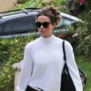 Kate Beckinsale – Head to a Super Bowl Party in LA