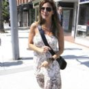 """""""Veronica Mars"""" actress Charisma Carpenter chats on her mobile in Beverly Hills"""