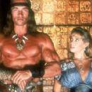 Arnold Schwarzenegger and Olivia d'Abo