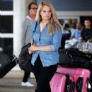 DEBBY RYAN Arrives at LAX Airport in Los Angeles