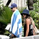 Kellan Lutz and his girlfriend, Australian model/actress Sharni Vinson, have a blast at the Soho Beach House in Miami Beach