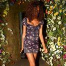 Jourdan Dunn in Mini Dress – Leaving the Ivy Chelsea in London - 454 x 704