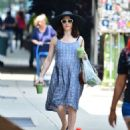 Rachel Weisz in Blue Dress – Out in New York - 454 x 538