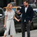 Actress Diane Kruger and Joshua Jackson spotted out for an evening stroll in New York City, New York on June 8, 2015 - 454 x 581