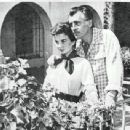 Jean Simmons & Stewart Granger at their home