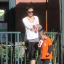 Rhea Durham Takes Her Kids Out In Beverly Hills - 454 x 589