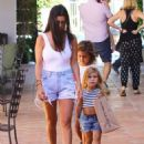 Kourtney Kardashian spends Labor Day shopping with her kids Mason & Penelope and a friend in Malibu, California on September 7, 2015