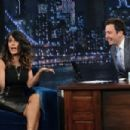 "Salma Hayek making an appearance on ""Late Night with Jimmy Fallon"" (June 27)"