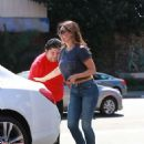 Kelly Brook In Tight Jeans Out In Los Angeles