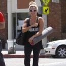 Ashley Tisdale: took a yoga class in LA