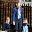 The Duke & Duchess Of Cambridge Depart The Lindo Wing With Their New Son - 427 x 600