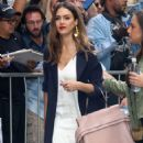 Jessica Alba Arrives at The View in New York - 454 x 559