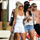Victoria Silvstedt vacations in St Barts on January 6, 2014