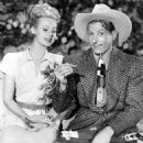 "Danny Kaye with Virginia Mayo in ""The Secret Life of Walter Mitty"" (1947)"