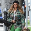 Tyra Banks wears Custom Camo Military Jacket
