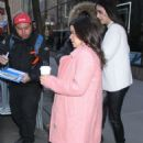 America Ferrera in Pink – Arrives at Today Show in NYC - 454 x 688