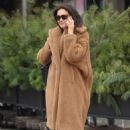 Katie Holmes in Brown Coat – Out in New York