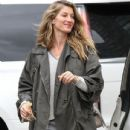 Gisele Bundchen Leaves a Hotel in Boston