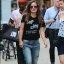 Actors Olivia Wilde and Bobby Cannavale spotted on the set of the upcoming Untitled HBO/Rock 'N' Roll Project in New York City, New York on July 20, 2015