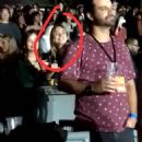 September 20, 2017 - Camille Rowe spotted at Harry Styles' concert in Los Angeles - 454 x 547