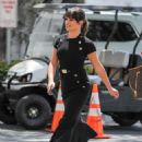 Lea Michele on EXTRA TV show in Los Angeles