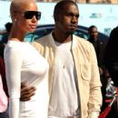 Kanye West and Amber Rose arrive at the 2009 BET Awards held at the Shrine Auditorium in Los Angeles, California - June 28, 2009 - 434 x 594