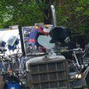 Andrew Garfield filming scenes for