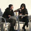 Tattoo artist Kat Von D out for lunch with a friend at the Liquid Juice Bar in West Hollywood, California on March 19, 2012