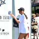Christina Milian – at her Beignet Box truck in Studio City - 454 x 682