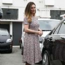 Kelly Brook Leaving A Hair Salon In West Hollywood