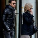 Jennifer and Justin reunited: Aniston and Theroux have NYC lunch date in first public outing since December