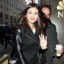 Victoria Justice Arriving At The Nbc Studios In New York City