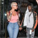 Amber Rose and 21 Savage Leaving Catch LA in West Hollywood, California - June 28, 2017