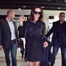 Asia Argento Arriving at Airport in Nice - 454 x 681