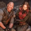 Dwayne Johnson and Karen Gillan